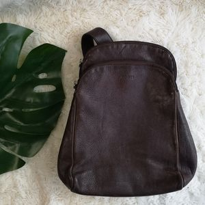 Roots vintage leather backpack